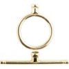 Brass Toggle Circle End Cap Plain 15mm